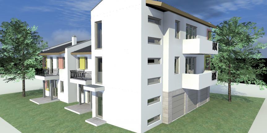 """Négylakásos lakóépület, Dunakeszi """"Meggyes"""" (2014)"""